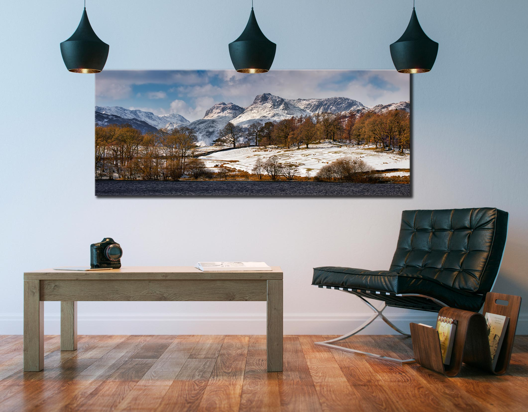 Loughrigg Tarn Winter View - Canvas Print on Wall