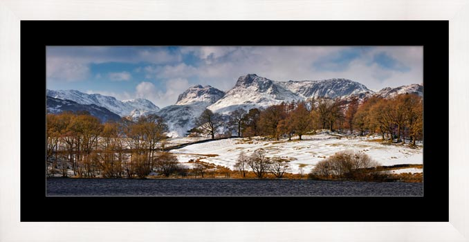 Loughrigg Tarn Winter View - Framed Print with Mount