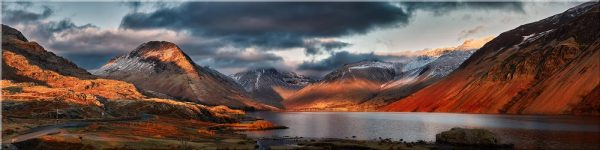 Winter Sun Over Wast Water - Canvas Print
