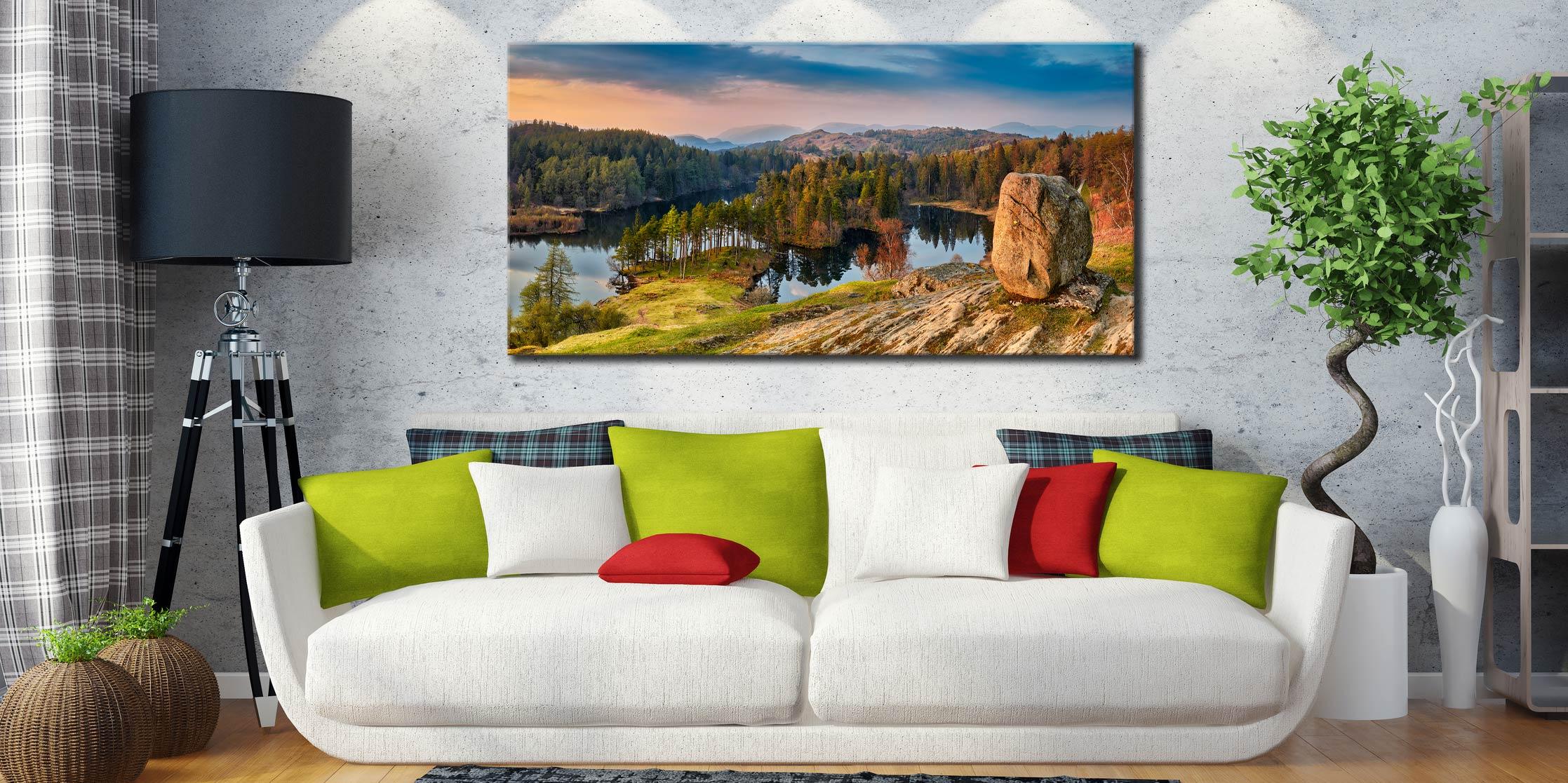 Dusk at Tarn Hows - Canvas Print on Wall