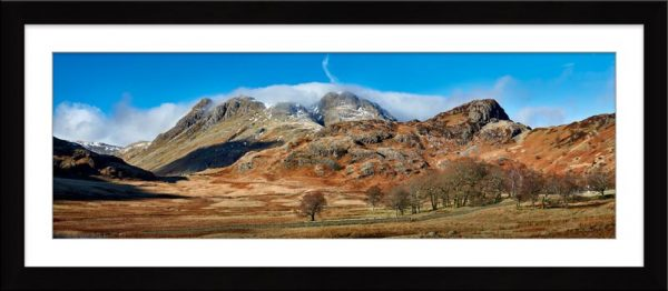 Last Snow On Langdales - Framed Print with Mount