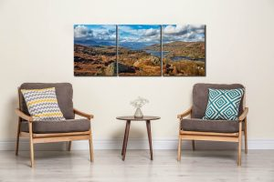 Coniston Water Panorama  - 3 Panel Canvas on Wall