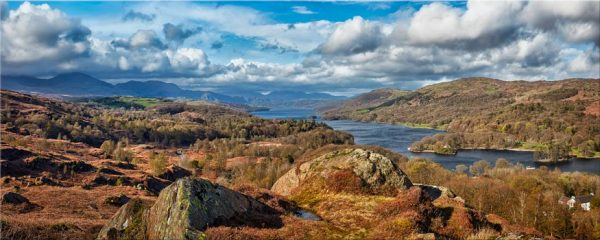 Coniston Water Panorama - Canvas Print