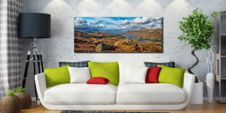 Coniston Water Panorama - Canvas Print on Wall