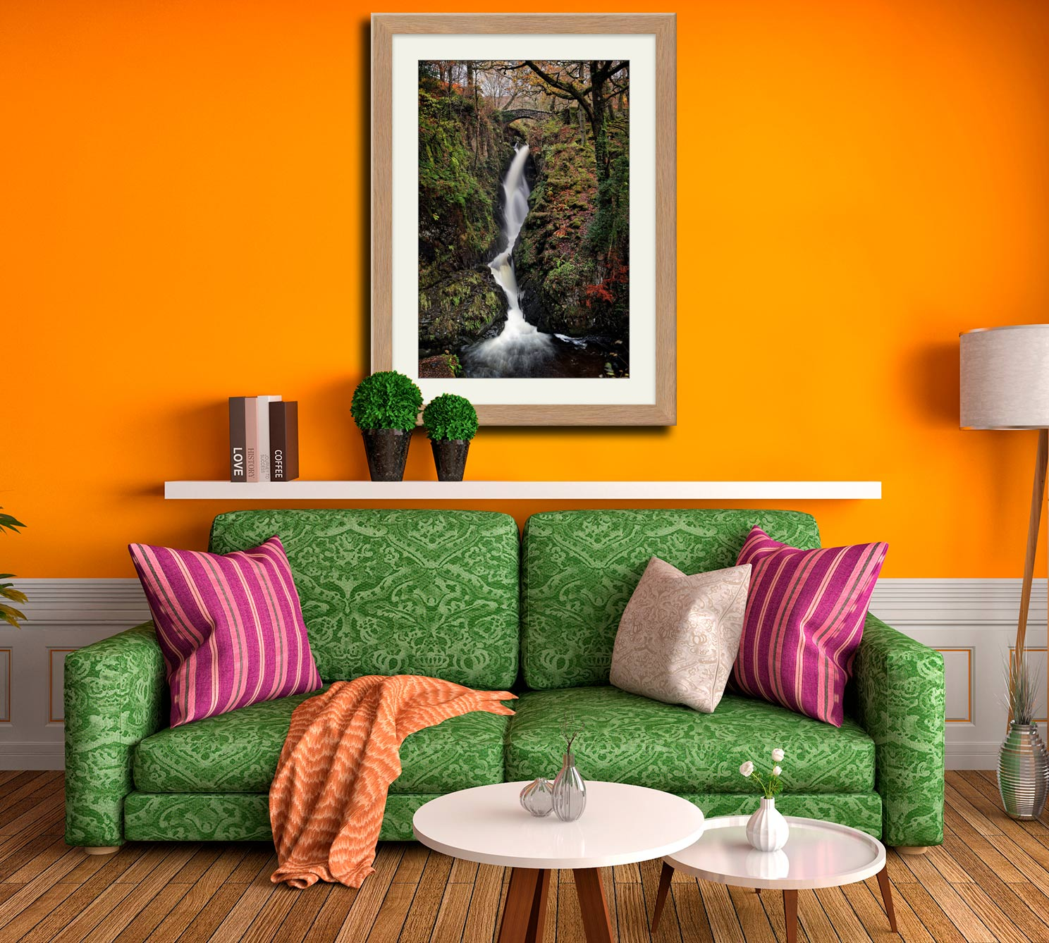 Aira in Full Force - Framed Print with Mount on Wall