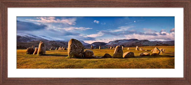 Morning Sunshine on Castlerigg - Framed Print with Mount
