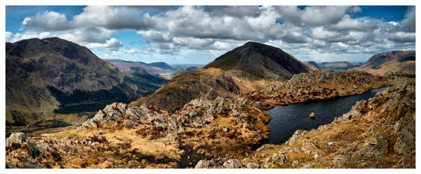 Pillar and High Crag from Haystacks - Lake District Poster