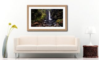 Stanley Ghyll Force - Framed Print with Mount on Wall