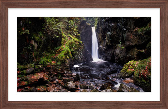 Stanley Ghyll Force - Framed Print with Mount