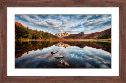 Light on the Langdales - Framed Print with Mount