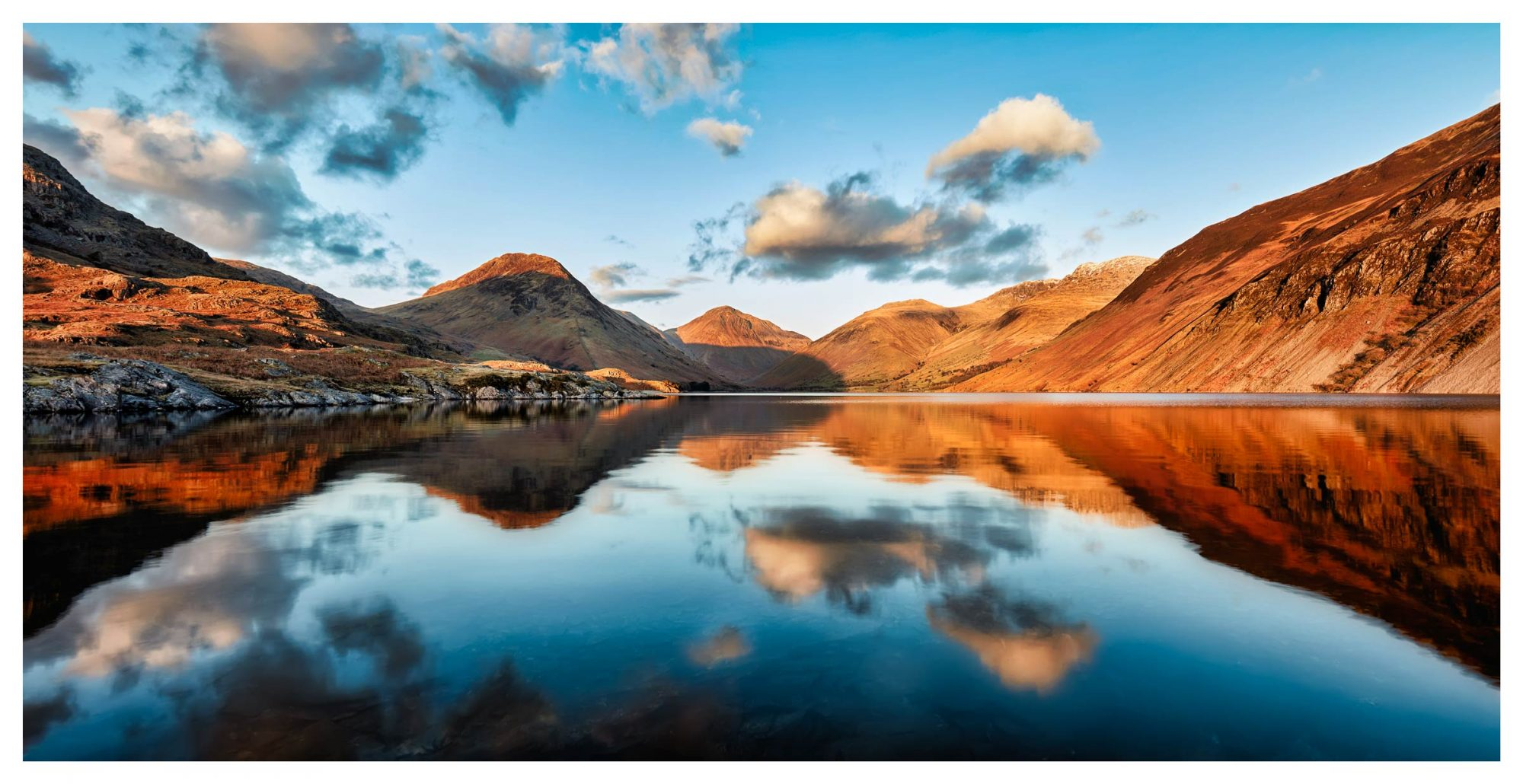 Golden Winter Sunlight Over Wast Water - Lake District Print