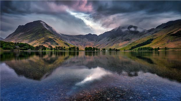 Buttermere Sky Rift - Framed Print with Mount