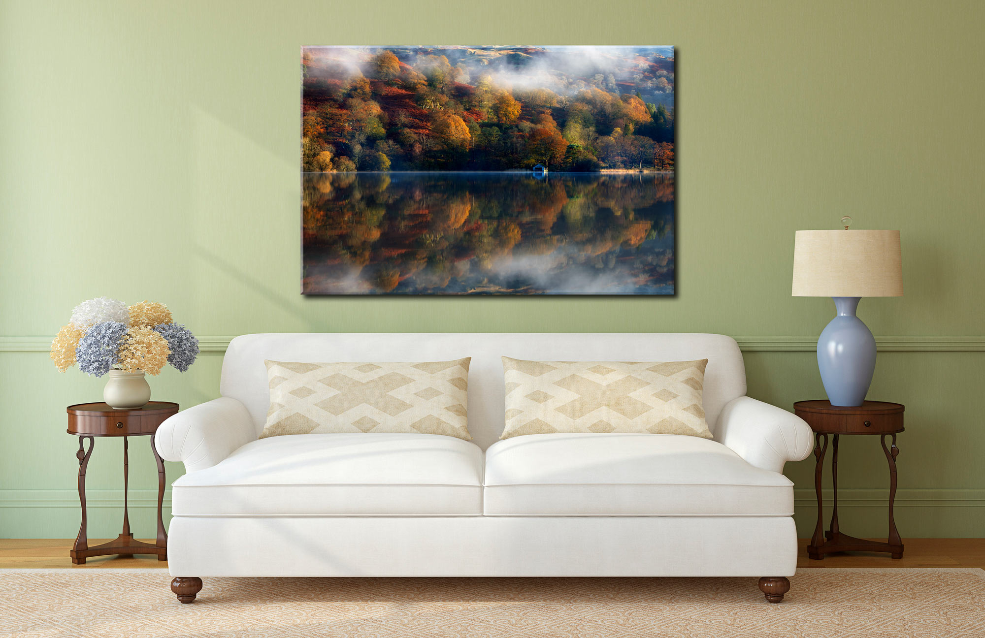 Rydal Water Autumn - Canvas Print on Wall