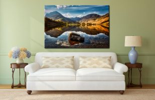 The Buttermere Rock - Canvas Print on Wall