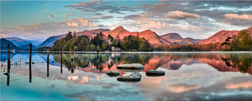Derwent Isle Calm Dawn - Canvas Print