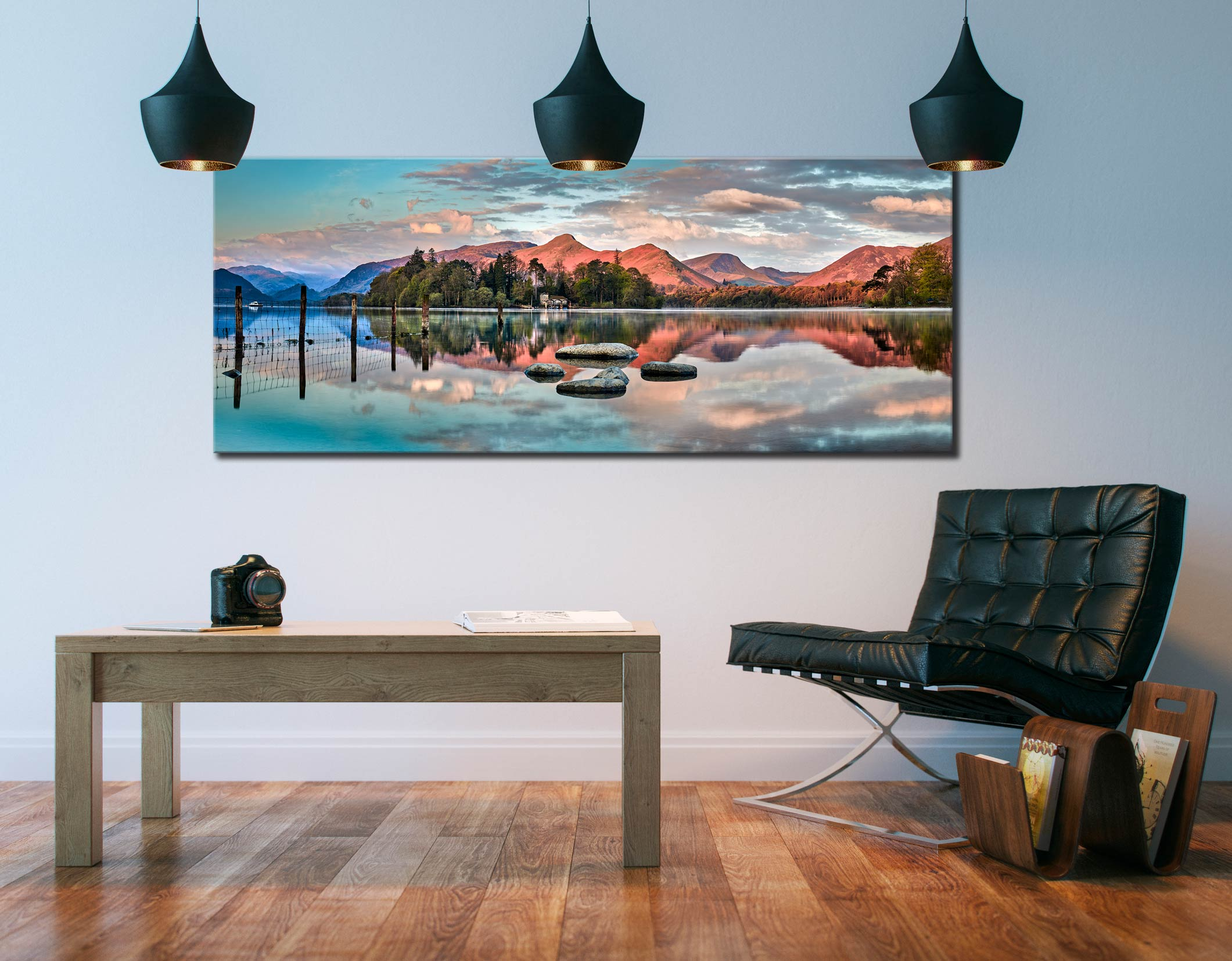 Derwent Isle Calm Dawn - Canvas Print on Wall