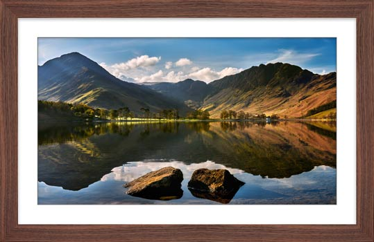 Beautiful Buttermere - Framed Print with Mount