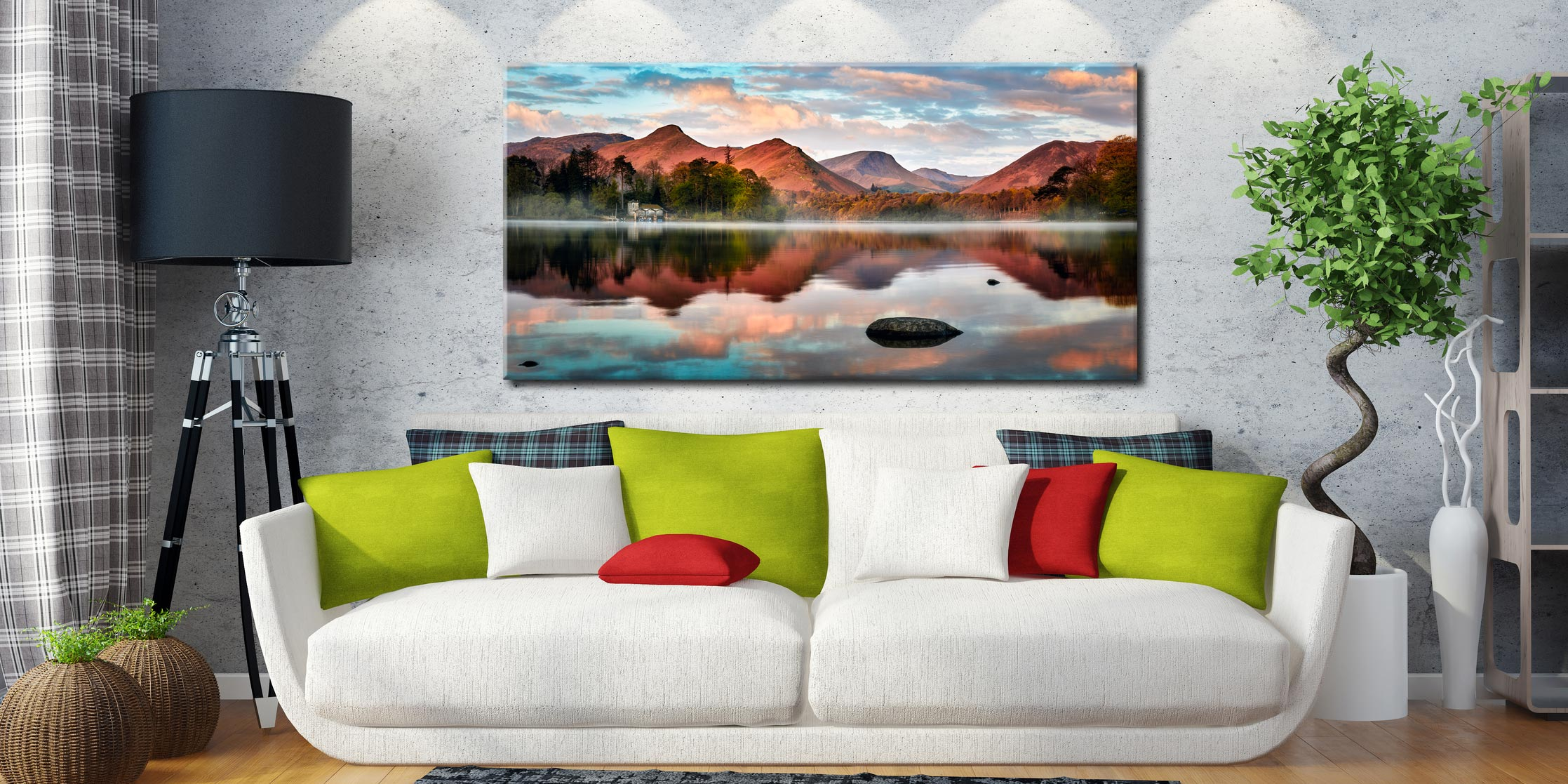 Cat Bells Red Dawn - Canvas Print on Wall