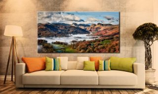 Autumn Morning in Langdale - Canvas Print on Wall