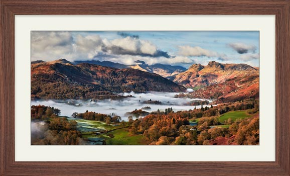 Autumn Morning in Langdale - Framed Print with Mount