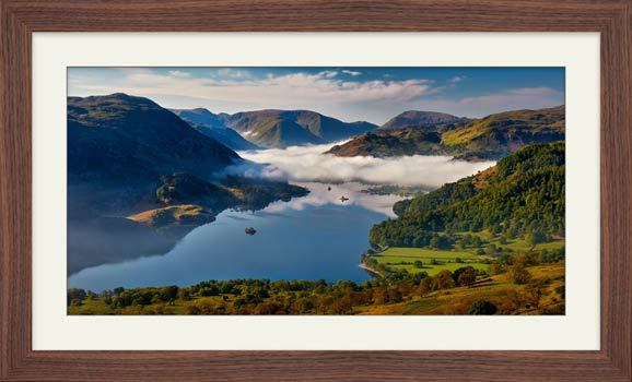 Glenridding Under the Clouds - Framed Print with Mount