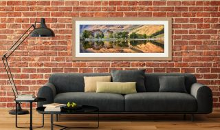Golden Dawn Buttermere - Framed Print with Mount on Wall