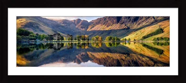 First Light at Buttermere - Framed Print with Mount