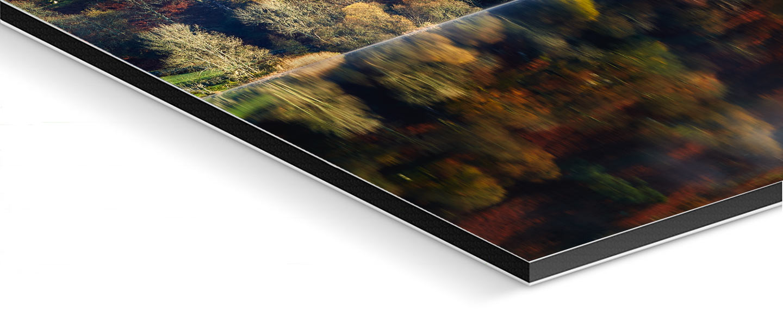Rydal Water in Autumn - Glossy Fuji print on  Aluminium Dibond
