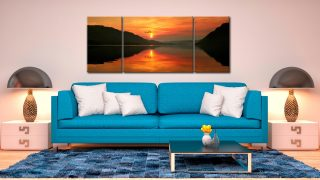 Ullswater Sunrise  - 3 Panel Wide Mid Canvas on Wall