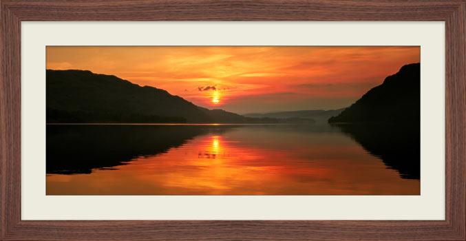 Ullswater Sunrise - Framed Print with Mount