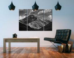Great Gable Black White  - A 3 panel wide centre canvas on Wall