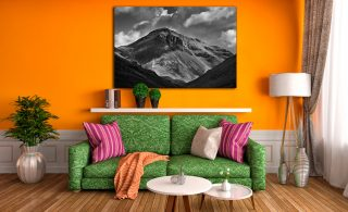 Great Gable Black White - Canvas Print on Wall