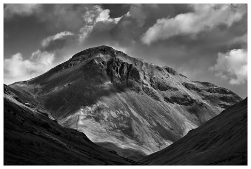 Great Gable Black White - Lake District Print