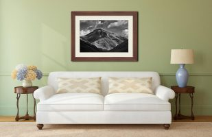 Great Gable Black and White - Framed Print with Mount on Wall