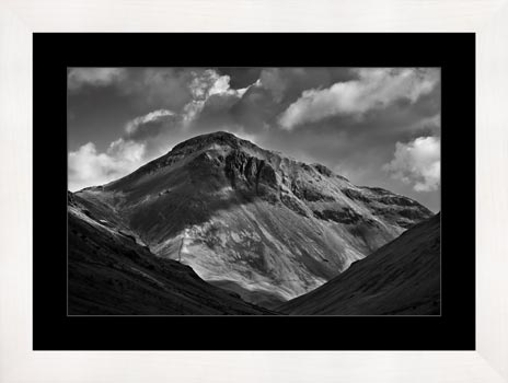 Great Gable Black and White - Framed Print with Mount