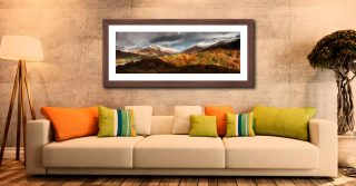 Autumn Fades Over Grasmere - Framed Print with Mount on Wall