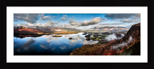Derwent Water Clouds - Framed Print with Mount