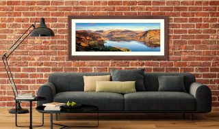 Morning Light on Ullswater - Framed Print with Mount on Wall