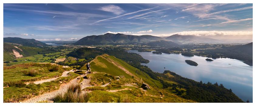 Cat Bells Panoramic View - Lake District Print