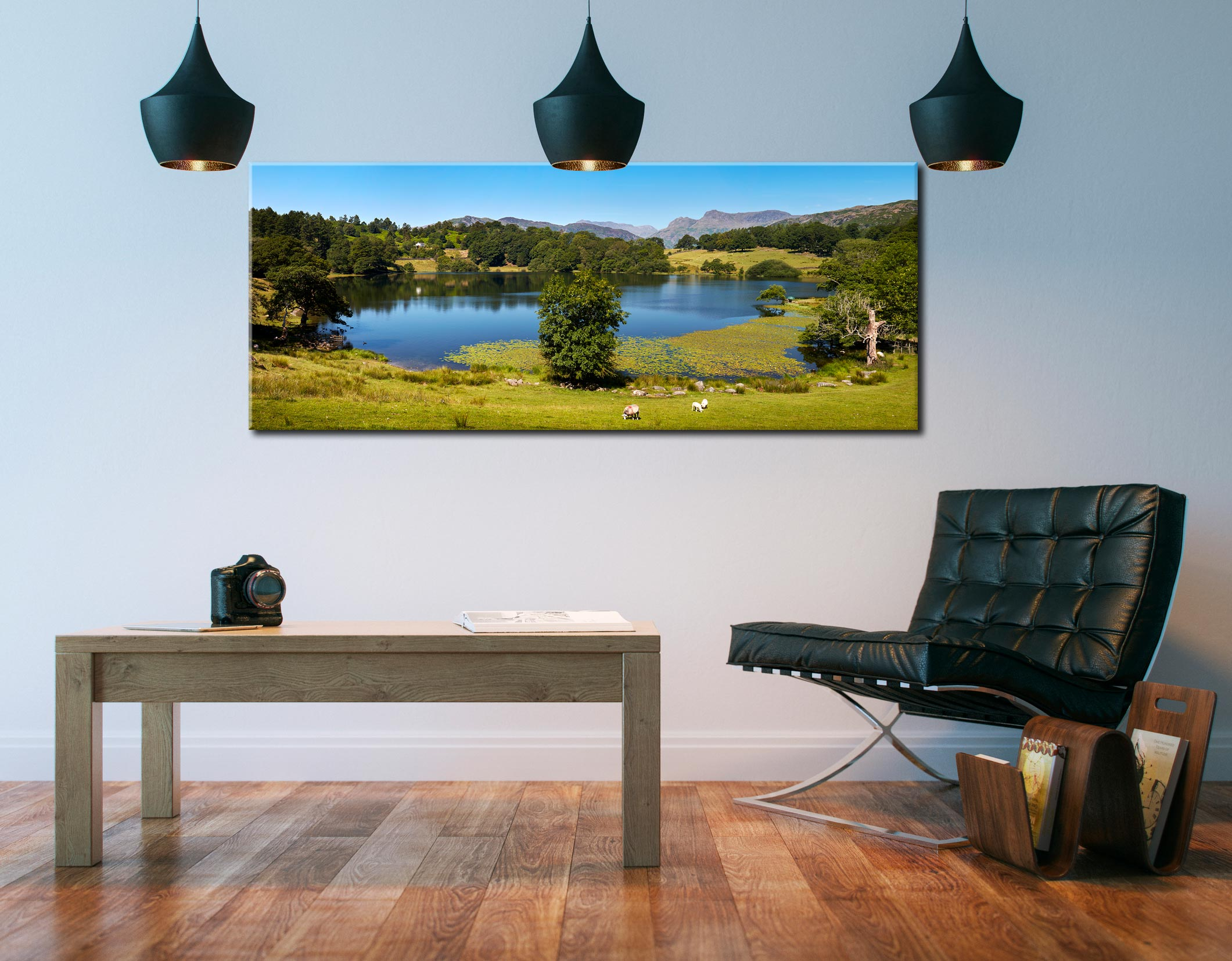 Loughrigg Tarn in Summer - Canvas Print on Wall