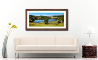 Loughrigg Tarn in Summer - Framed Print with Mount on Wall