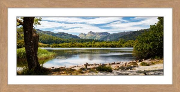 Elterwater Summer Afternoon - Framed Print with Mount