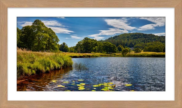 River Brathay Summers Afternoon - Framed Print with Mount