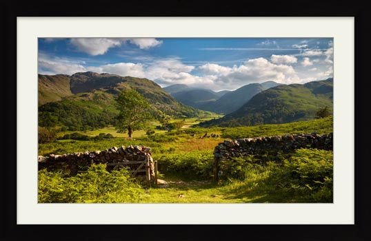Green and Pleasant Land - Framed Print with Mount