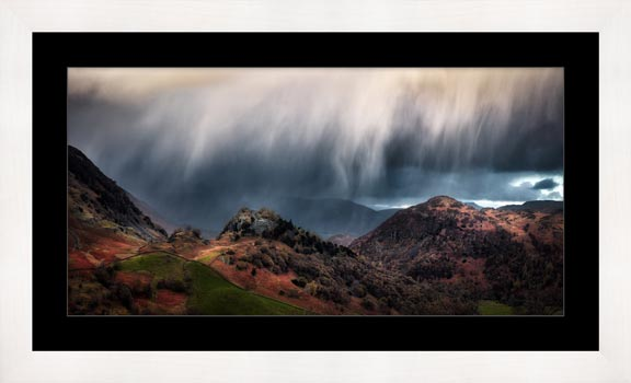 The Rains are a Coming - Framed Print with Mount