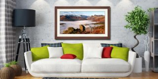 Langdale Valley Cloud Inversion - Framed Print with Mount on Wall
