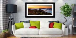 Watching the Dawn - Framed Print with Mount on Wall