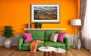 Best Seat in the House - Framed Print with Mount on Wall
