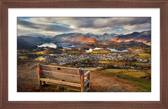 Best Seat in the House - Framed Print with Mount