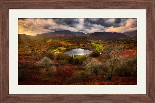 Golden Browns of Loughrigg - Framed Print with Mount